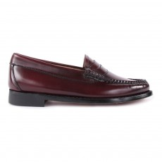 Mocassins Cuir Penny Bordeaux