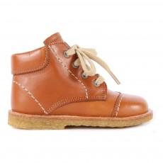 Chaussures Premiers Pas Cuir à Lacets Creek Camel