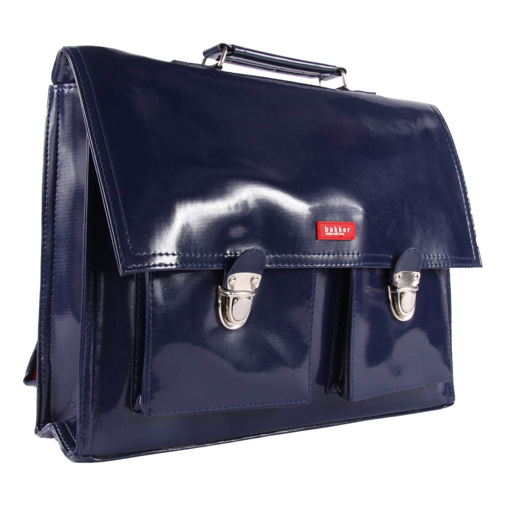 Cartable bretelles vinyle bleu marine bakker made with - Bakker made with love cartable ...