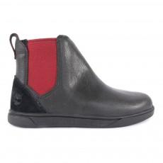 Boots Cuir Zippées Chelsea Groveton Noir