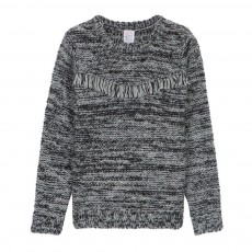 Pull Col Rond Etoily Gris