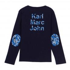 T-Shirt Col Tunisien Coudières Tichou Bleu marine