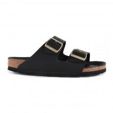 Sandales Cuir Boucle Dorée Arizona Noir