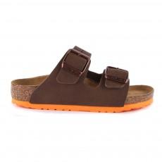 Sandales Semelle Colorée Arizona Brun