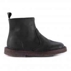 Boots Zippées Suède Noir