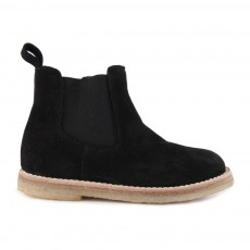 Boots Chelsea Zippées Suède Noir