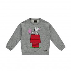 Sweat Snoopy Chewing-Gum Turner Gris chiné