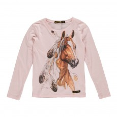 T-Shirt Cheval Nolita Rose pâle