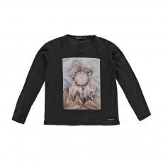 T-Shirt Loups Shine Noir