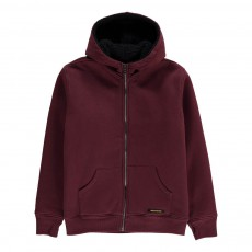 Sweat Capuche Fourré Hooper Bordeaux