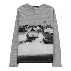 T-Shirt Voiture Longjohn Gris chiné