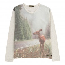 T-Shirt Biche Shine Gris clair