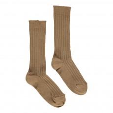 Chaussettes Côtelées Camel