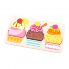 Puzzle crème glacée Multicolore
