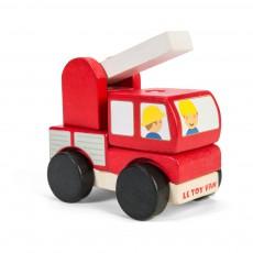 Camion de pompiers empilable Rouge