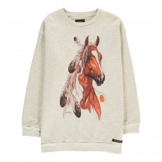 Sweat Cheval Tina Gris clair