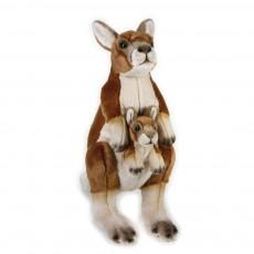 Peluche Kangourou et son bébé 44 cm Multicolore