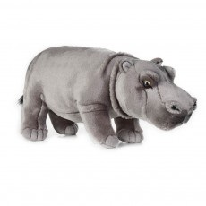 Peluche Hippopotame 31 cm Gris