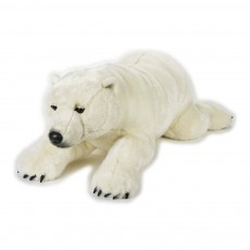 Peluche Ours polaire 118 cm Blanc
