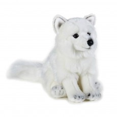 Peluche Renard des neiges 24 cm Blanc