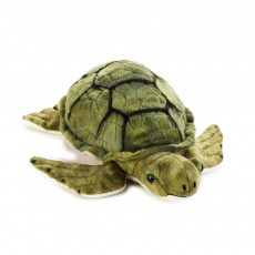 Peluche Tortue marine 32 cm Vert