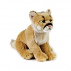 Peluche Lion des montagnes 25 cm Beige