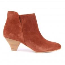 Boots Cuir Suédé You Rouge brique