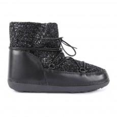 Boots Fourrées Paillettes Anouk Noir