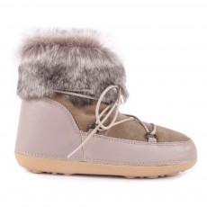 Boots Fourrées Suède Anouk Beige