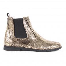 Boots Chelsea Cuir Zippées Constance Doré