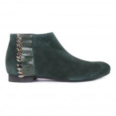 Boots Suède Zippées Franges Ingrid Vert foncé