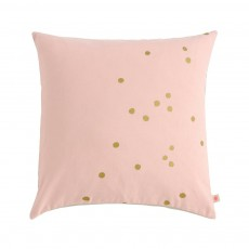 Coussin Lina pois or Rose poudré