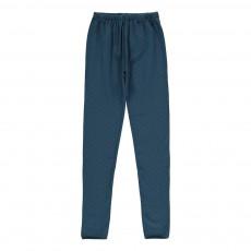 Legging Pois Bleu gris