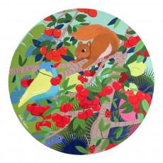 Puzzle rond animaux Multicolore