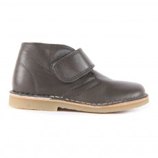 Bottines Cuir Scratch Gris