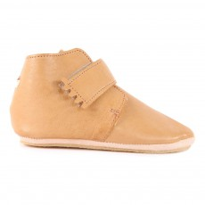 Chaussons Cuir Scratch Kiny Camel