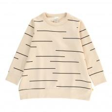 Sweat Oversize Lines Ecru