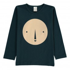 T-Shirt Face Graphic Bleu marine