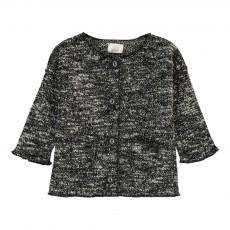 Cardigan Tweed Jersey Doux Bibi Gris chiné