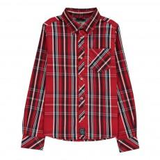 Chemise à Carreaux Twill Rouge