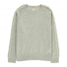 Pull Rayures Manches Uzes Gris chiné