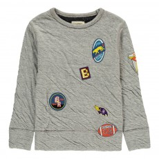 Sweat Double Jersey Sokaw Gris chiné