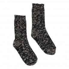 Chaussettes Chinées Noir