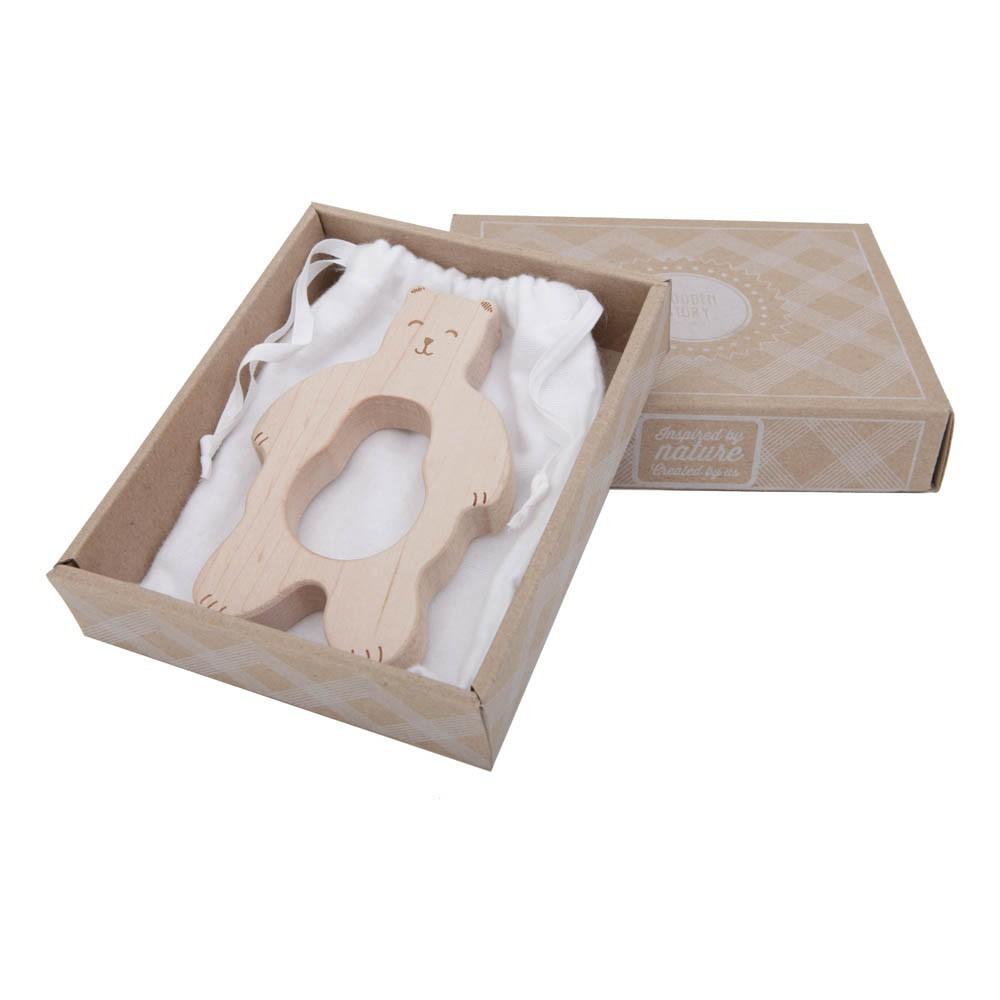 anneau de dentition en bois ours naturel smallable. Black Bedroom Furniture Sets. Home Design Ideas