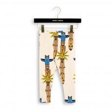 Legging Totem Multicolores Coton Bio Beige