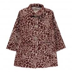 Manteau Jacquard Leopard Berta Bordeaux