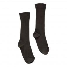 Chaussettes Côtelées Gris