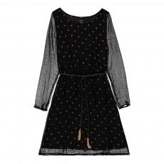 Robe Pois Ivanna Noir