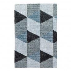 Tapis en laine Triangle 140x200 cm Multicolore