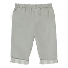 Pantalon Velours Revers Tartan Darcy Gris clair